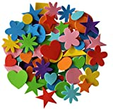 Self Adhesive Craft Foam Stickers Assorted Shapes 180 Pieces