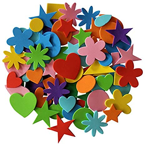 Self Adhesive Craft Foam Stickers Assorted Shapes 180 (Adesivo Star Shapes)