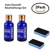 WZTO Auto Keramik Beschichtungs Set/Auto Kratzfeste Schutz Polish Nano Keramik Glas Beschichtung Autopolitur Lackpflege 2 pcs