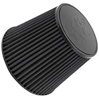 K&N RU-5177HBK Universal Clamp-On Air Filter: Round Tapered; 6 in (152 mm) Flange ID; 7.5 in (191 mm) Height; 9 in (229 mm) Base; 6.625 in (168 mm) Top