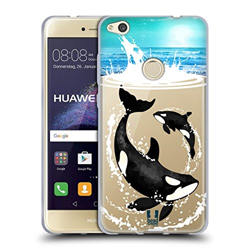 Head case designs orche animali del mare cover morbida in gel per huawei p8 lite (2017)