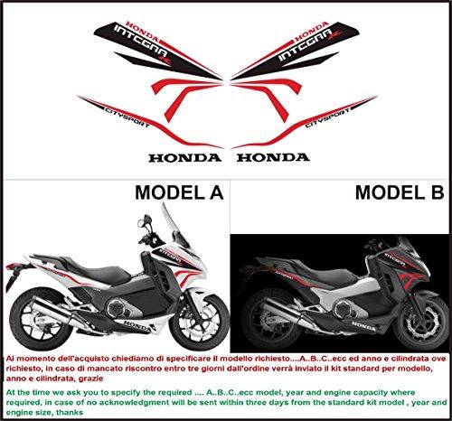 Emanuel & Co Kit adesivi Decal Stickers Honda Integra 750 R FORMANUDESIGN (Geben Sie Model A Oder B)