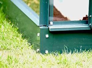 Serre de jardin verte en aluminium et verre Vénus 7500