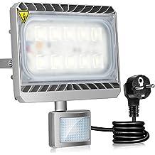 GOSUN® 50W Blanco Frío LED Foco Proyector Luz, Foco proyector con iluminación LED y PIR sensor de movimiento