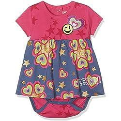 Desigual VEST_LETICIA, Vestido para Bebés, Rosa (Fuchsia Rose 3022), 12-18 Meses (Talla del Fabricante: 18)