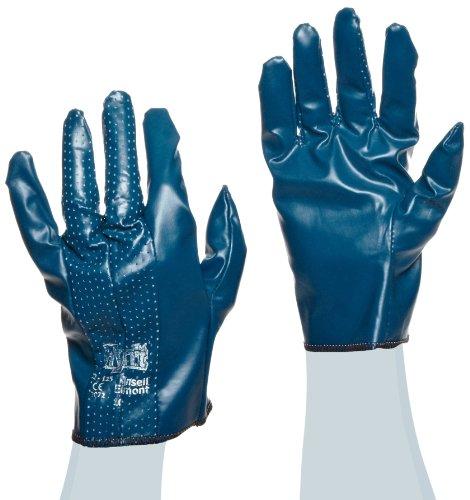 Ansell Hynit 32-125 Gants oléofuges, protection mécanique, Bleu, Taille 10 (Sachet de 12 paires)