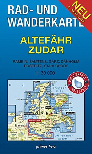 Rad- und Wanderkarte Altefähr, Zudar: Mit Rambin, Samtens, Garz, Dänholm, Poseritz, Stahlbrode