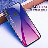 HNSYDS Gradient Tempered Glass Case For Xiaomi Redmi Note 7
