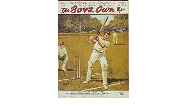 1921 Boys Own Magazine Cover Cricket Special Poster A3 Reprint