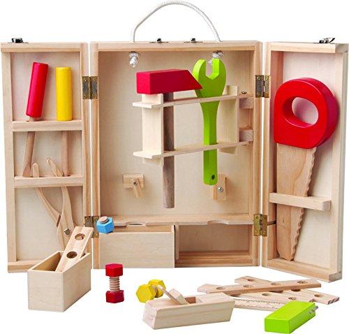 25 teiliges Set Woody Werkzeugschrank / Werkschrank Holz Werkzeug z.B. Hammer, Säge,...