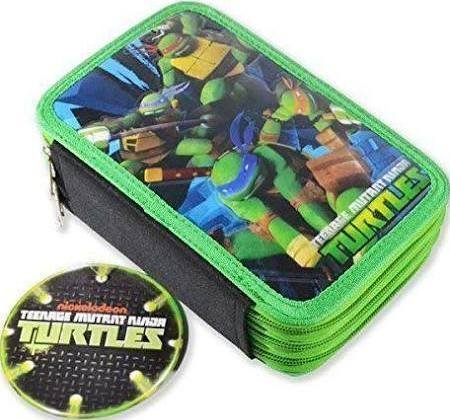 Astuccio 3 zip Ninja Turtles
