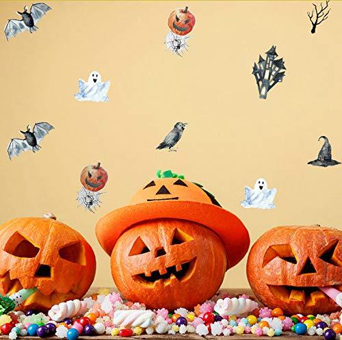 Gwgdjk 21 * 15 Cm Dekoration Neue 2017 Halloween Bat Kürbis Geist Wandaufkleber Zitat Kunst Diy Aufkleber ()