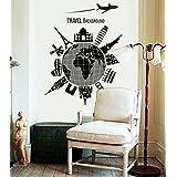 ملصقات جدارية مضيئة من فلورسنت مجموعة السفر حول العالم لديكور المنزل وغرفة المعيشة والحائط