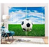 MUXIAND Tenda di Finestra Creativa dell'immagine 3D del Calcio per la Stanza della lettiera
