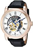 Gevril Men's Analog Swiss-Automatic Watch with Leather Calfskin Strap 2694