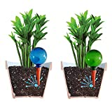 Glaskugel zur Bewässerung, 4 Stück, groß. Erhältlich in Blau und Grün, einfaches Ablesen des Wasserstands. Bewässerungssystem für Pflanzen.