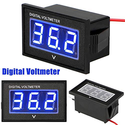 Linkstyle 36 Volt LED Digital Volt Meter Indicatore di livello batteria, impermeabile Golf Cart Club Car Voltmetro Digitale fino a 45V per Club Car EZGO Yamaha -