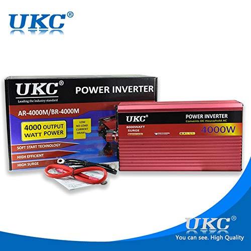 HoganeyVan UKC 4000W Inversor Corriente Solar Coche