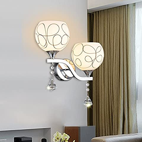 Larsure Vintage Industrial Style Wall Sconce Wall Light Lamp orbs glass wall lamp dual head before mirror