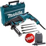 Makita HR2630 SDS  3 Mode Rotary Hammer Drill, Free Chisels & Keyless Chuck 240V