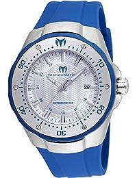 TECHNOMARINE MEN'S MANTA 48MM BLUE SILICONE BAND AUTOMATIC WATCH TM-215081