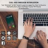 CHEREEKI Fitness Armband, Wasserdicht IP68 Fitness Tracker mit Pulsmesser Farbbildschirm Fitness Uhr Aktivitätstracker Schrittzähler Uhr Smartwatch SMS Anruf Beachten für Damen Herren (Schwarz) - 5
