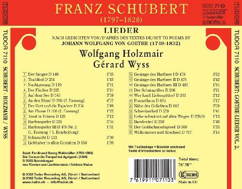 Schubert: Goethe-Lieder