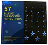 1,2m x 1m 57 Blauer Stern-Vorhang Led Lampen- Christmas Lights