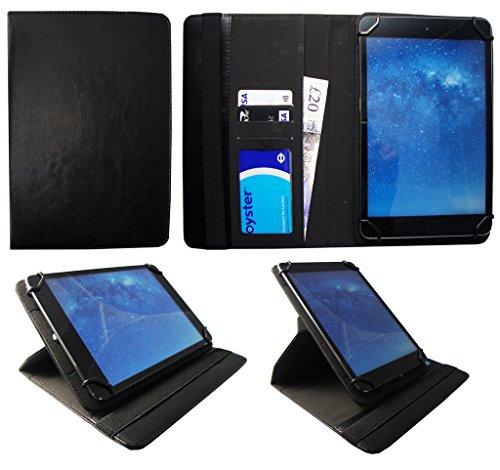 Denver TAD-10063 / TAD-10072 / TAQ-10122 / TAQ-10133 / TAQ-10153 10.1 Zoll Tablet Schwarz Universal 360 Grad Drehung PU Leder Tasche Schutzhülle Case von Sweet Tech