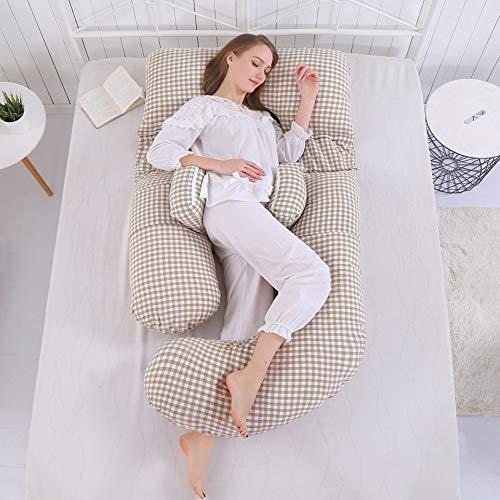 ZZHK Schwangere Frauen pilgern Taille Seite Schlafen Magenkissen Multi-Funktion u-förmige Kissen Mutterschaft liefert Schlafseiten-Kissen Kissen schwanger,C Frauen Pilgern