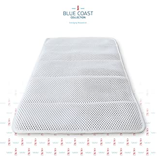 Azure – Alfombra para bañera y ducha de Blue Coast Collection. Alfombrilla de baño premium antideslizante con más de 50 ventosas. Diseñado con tejidos suaves para máximo confort. Resistente a hongos y moho. Incluye Zapatillas de Casa!