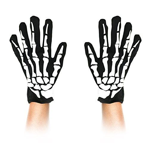 Robelli Skelett-Handschuhe–Herren Halloween Kostüm