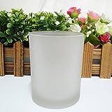 JJALZ Kerzenschale Frosted Cup Soja Wachsschale Duftkerze Tasse Handkerze Tasse Schwarz Tasse Weiß Tasse Glas,Milchig Z