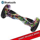 Dragon Gyropode Hoverboard avec Roues de 10' Scooter électrique Scooter à équilibrage Automatique Smart Balance Board Scooter à équilibre Automatique (Paint)