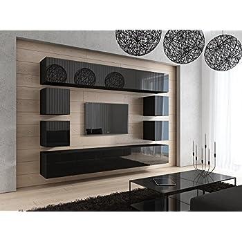 HomeDirectLTD Future 17 Moderne Wohnwand, Exklusive Mediamöbel, TV Schrank,  Garnitur, Große