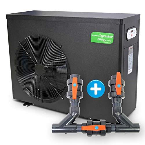 Wärmepumpe Smart Inverter 6,0 kW inklusive Bypass, Wassererwärmung, Poolheizung, Warmwasser, Wärmetauscher, Heizpumpe, Schwimmbecken, Pool -