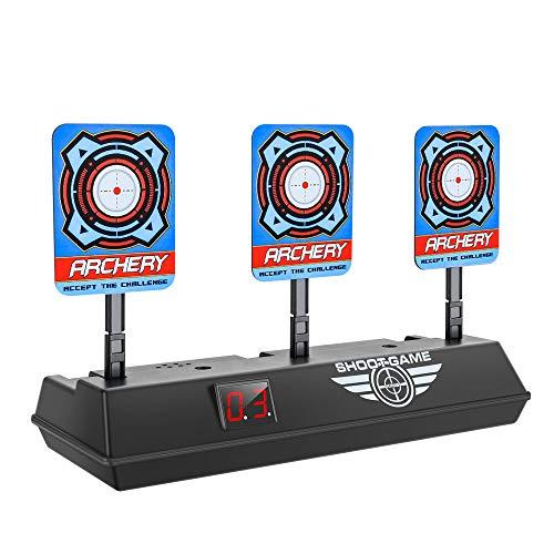 Mopoin Zielscheibe für Nerf, Auto Reset Elektro-Schießscheiben, Automatische Wiederherstellung Zubehör für Nerf Soft Bullet Gun Spielzeug Gut für Nerf Pfeile Guns N-Strike Elite/Mega/Rival-Serie (Soft-gun-target)