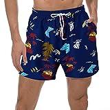 Goodstoworld Costume da Bagno per Uomo Pantaloni da Spiaggia rapido e Asciutto Uomo Casual Hawaiana Costumi Uomo da Mare L Hawaii Palm
