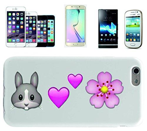 """Smartphone Case Apple IPhone 7 """"Hasenkopf und Zwei Herzen ist gleich schöne Blume"""", der wohl schönste Smartphone Schutz aller Zeiten."""
