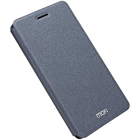 KaTelin OnePlus 3 Custodia - Pelle Shield Custodia Interno Flake Acciaio Case per OnePlus 3 - Nero
