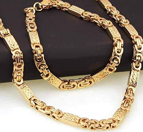Herren Edelstahl Halskette Herre...