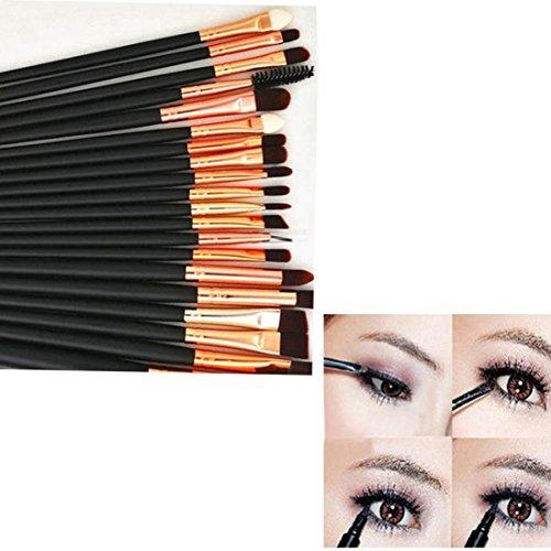 Set de Brochas de Maquillaje Profesional Cepillos de Maquillaje para las Facial y Cejas y Labios por ESAILQ T