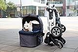 "InnoPet Hundebuggy ""Cleo"" mit abnehmbarer Tasche Hundewagen Hundetasche Transporttasche PetStroller klappbar Autositz abnehmbares Verdeck - 2"