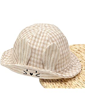 Roffatide Bebé Preciosas Orejas de Conejo Sombrero de Pescador Niño Niña Verano Anti-UV Sombrero de Sol