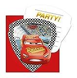 6 Inviti e buste CARS 3 per festa di compleanno bambino o motto-party INVITI BIGLIETTI DA INVITO bambini compleanno Lightning McQueen Disney Pixar Auto da corsa