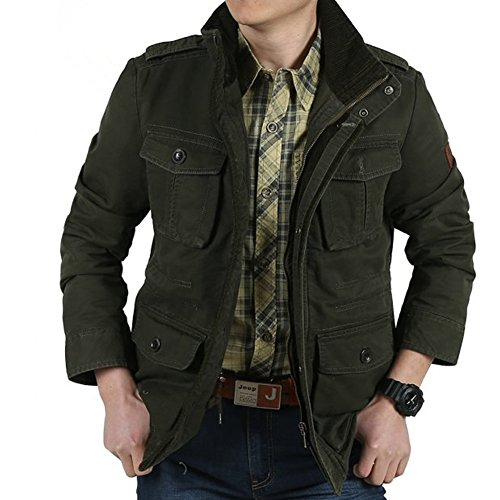 printemps-casual-veste-pour-hommes-multi-poche-100-coton-army-green-5xl-army-green