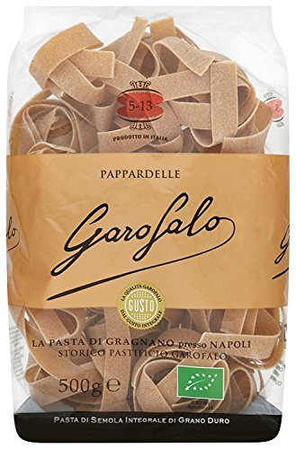 Garofalo Whole Wheat Organic Pappardelle 500g (Pack of 4)