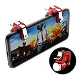 BEESCLOVER Metal Smart Phone Mobile Gaming Trigger for PUBG Mobile Gamepad Fire Button Aim Key L1 R1 Shooter PUBG Controller red