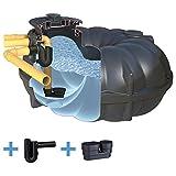 Zisterne 5000 Liter Regenwassertank NEO STANDARD mit Deckel, beruhigtem Zulauf und Siphon - Kunststoff, Kunststoffzisterne, Komplettset