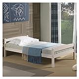 IDIMEX Einzelbett Kinderbett Gästebett Bett FELIX, 90x190 cm, weiß lackiert